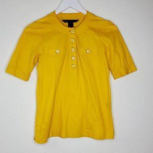 Marc by Marc Jacobs Yellow 3/4 Sleeve Top